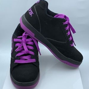 Girls Heelys Black & Purple Skate Shoes Youth Sz 4